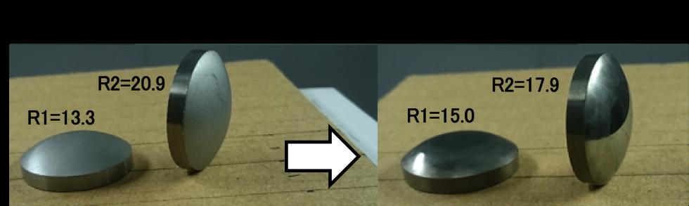 プリフォーム(♯250研削面)形状・面転写